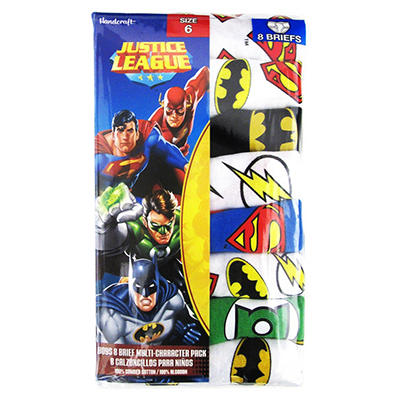 Boy's Justice League Themed Underwear, 8 pk.