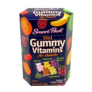 Smart Pack 5-in-1 Gummy Vitamins for Adults