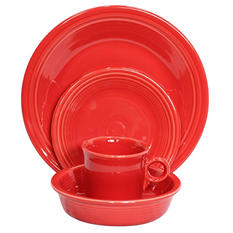 Fiesta 4 Piece Dinnerware Set - Choose Color