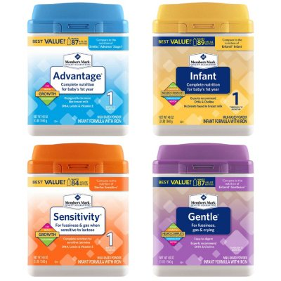 Member's Mark Infant Formula 48 oz. Pick 2 Bundle (Choose Your Option)