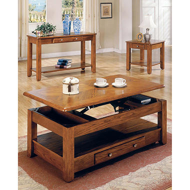 Logan Oak Living Room Table Collection - 4 pc.