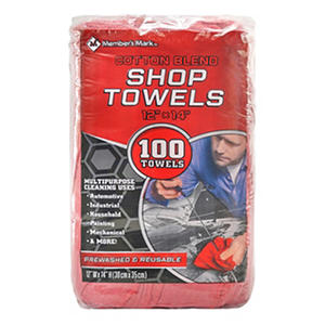 Member's Mark Commercial Shop Towels - Red
