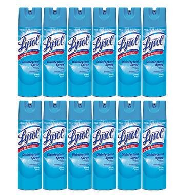 Lysol Disinfectant Spray - Fresh Scent - 19 oz. - 12 pk.