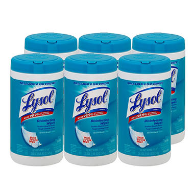 Lysol Disinfecting Wipes - Ocean Fresh - 6 pk.