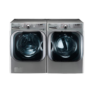 Mega Capacity Front Load Washer And Gas Dryer Bundle