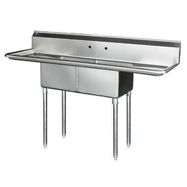 ... Stainless Steel Utility Sink With Right Drainboard By 2 Compartment Sink  Stainless Steel Various Sam S ...