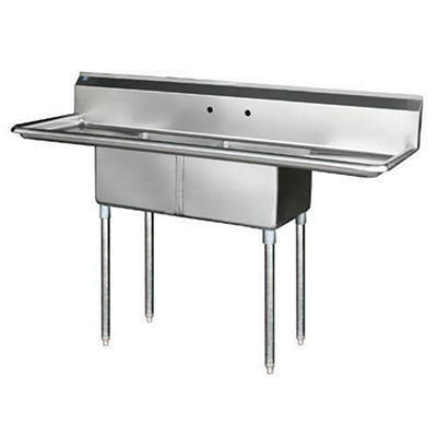 2 Compartment Sink - Stainless Steel - Various