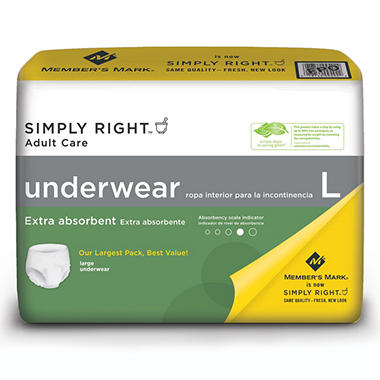 Simply Right Unisex Underwear, Large - 72 ct.
