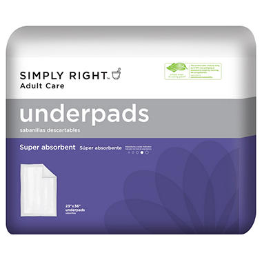 "Simply Right  Underpads - 23"" x 36"" - 120 ct."