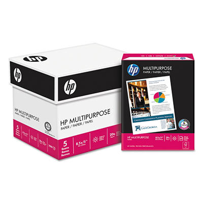"HP - Multipurpose Paper, 20lb, 96 Bright, 8-1/2 x 11"" - Half Case"