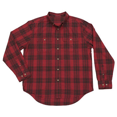 Men's L/S Calico Plaid Shirt - Various Colors