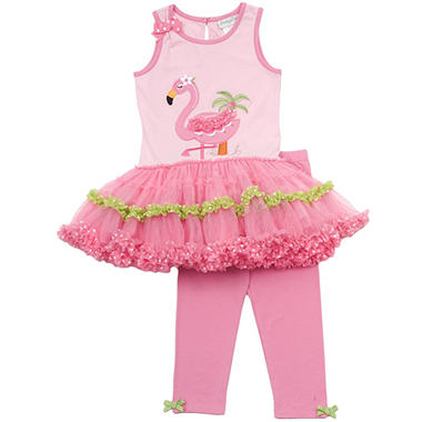 Emily Rose 2 Piece Tutu Capri Set - Pink