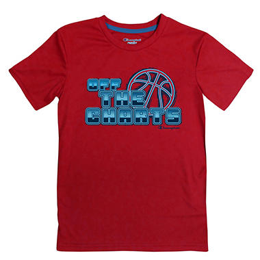 Champion Boy's Graphic Tee - Red Basketball