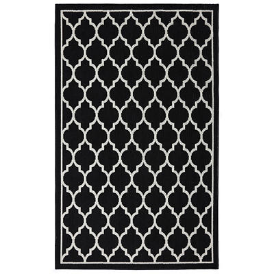 "Color Wheel Collection Chai Accent Rug - 30"" x 46"" (Black)"