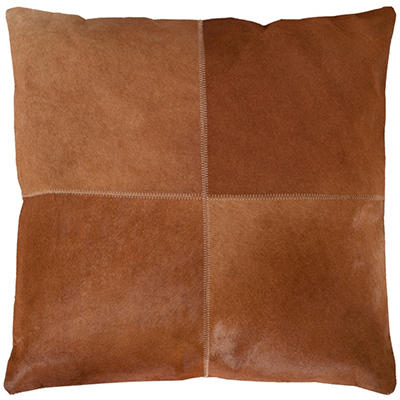 "Sedona Cowhide Pillow, Brown  (20"" x 20"")"