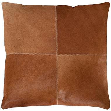 Sedona Cowhide Pillow, Brown  (20
