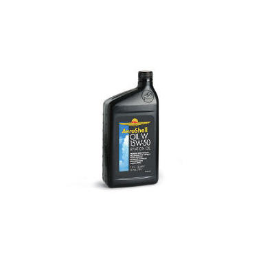 AeroShell 15W50 Aviation Oil - 1 Quart Bottles - 12 Pack