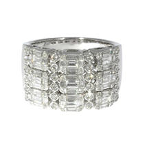 Click here for 1.35 CT T.W. Diamond Ring in 14K White Gold prices