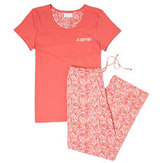 2 Piece Knit PJ Set by Famous Maker (Assorted Colors)