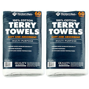 Member's Mark Terry Towels (120 pk.)