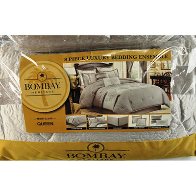 Montclair Luxury 8-Piece Bedding Set - King or Queen