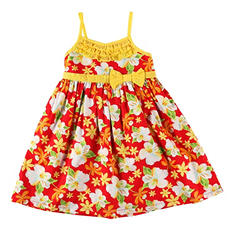 Girls' Red Floral Dress