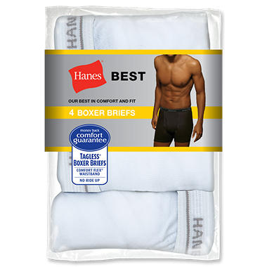 Hanes Boxer Briefs, 4 pk. - Various Colors Available