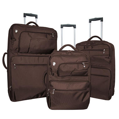 Heys Fuse X2 Hybrid Luggage Set - Brown - 3 pc.