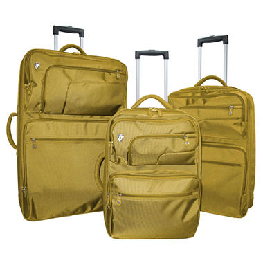 Heys Fuse X2 Hybrid Luggage Set - Gold - 3 pc.