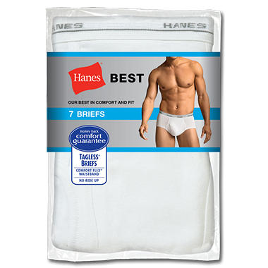 Hanes Briefs, 7 pk. - Various Colors Available