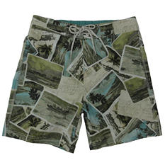 Caribbean Joe Men's Printed Swim Shorts (Assorted Styles)