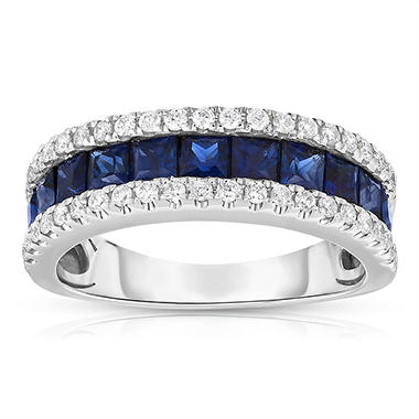 .25 ct. t.w. Diamond and 1.5 ct. t.w.Sapphire Band
