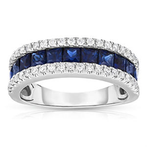 .25 ct. t.w. Diamond and 1.5 ct. t.w.?Sapphire Band