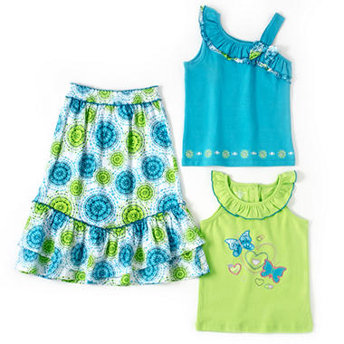 Kids Headquarters 3 pc. Set - Green Flower