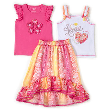 Kids Headquarters 3 pc. Set - Pink Flower