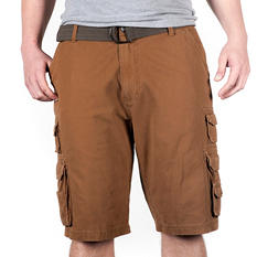Regatta Belted Vintage Twill Pocket Cargo Short by Iron Clothing (Assorted Colors)