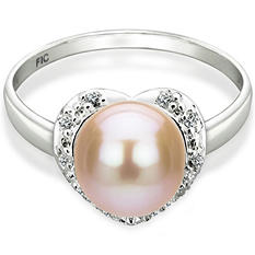 Heart Shaped Freshwater Pearl Ring