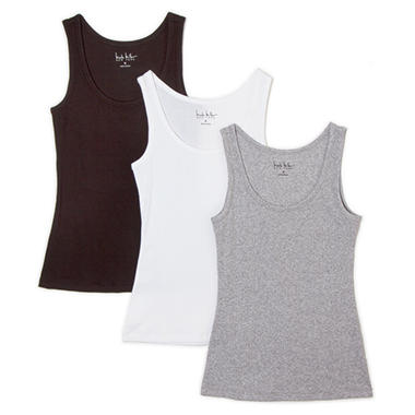 Nicole Miller 3 pk. Ladies Tank - Grey