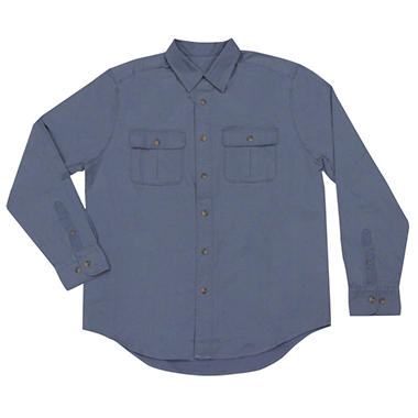 Men's Long Sleeve Canvas Shirt - Various Colors
