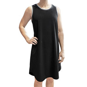 Ladies Sleeveless T-Shirt Dress (Assorted Colors)