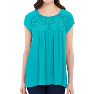 Nicole Miller Emberoidered Top (Assorted Colors)