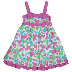 Girl's Purple Heart Spring Dress