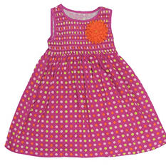 Girl's Pink Polka Dot Dress