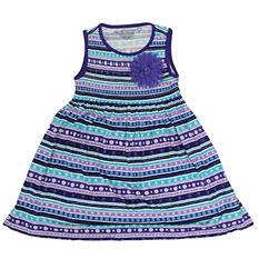 Girl's Purple Flower Dress