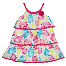 Girl's Multi-Color Ruffle Tier Dress