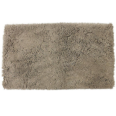 Antimicrobial Foam Backed Chenille Rug - Various Colors