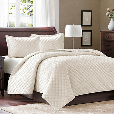Micro Velour Coverlet Set - 3 pc.- King