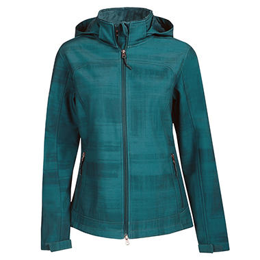 Ladies Hooded Softshell Jacket - Various Colors