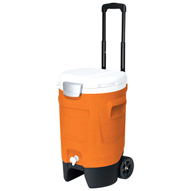 5 Gallon Sport Roller Cooler - Orange