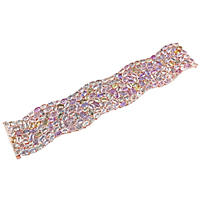 116.80 ct. Multi-Color Sapphire Mosaic Cuff Bracelet in 14K Rose Gold